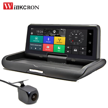 """Автомобильный gps-навигатор 8,"""" ips touch 4G Android Dash Cam ADAS DVR камера Автомобильный видеорегистратор Full HD 1080P ночного видения заднего вида"""