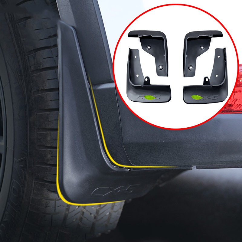 Black Car Front Rear Mud Flaps Mudflaps Splash Guards Flap Mudguards Fender For <font><b>Mazda</b></font> <font><b>CX</b></font>-<font><b>5</b></font> CX5 <font><b>CX</b></font> <font><b>5</b></font> 2017 <font><b>2018</b></font> 2019 <font><b>Accessories</b></font> image