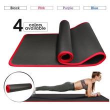 10mm extra grosso 183cmx61cm esteira do exercício do não-deslizamento das esteiras da ioga nrb para esteiras insípidas do gym do exercício do pilates da aptidão com ataduras