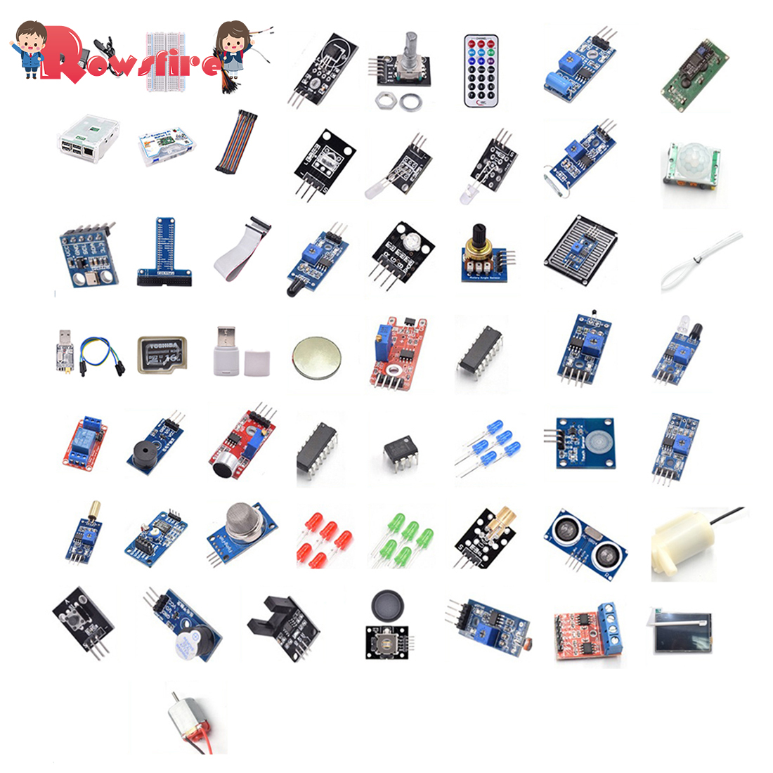 Development Board Sensor Computer Suite Deluxe Version Mainboard For Raspberry Pi 3B + Starter Kit