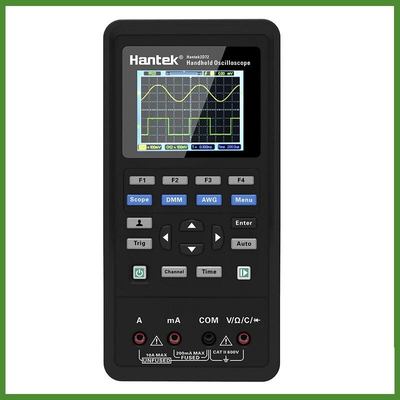 LCD Display Hantek 3in1 Digital Oscilloscope+Waveform Generator+Multimeter Portable USB 2 Channels 40mhz 70mhz Test Meter Tools