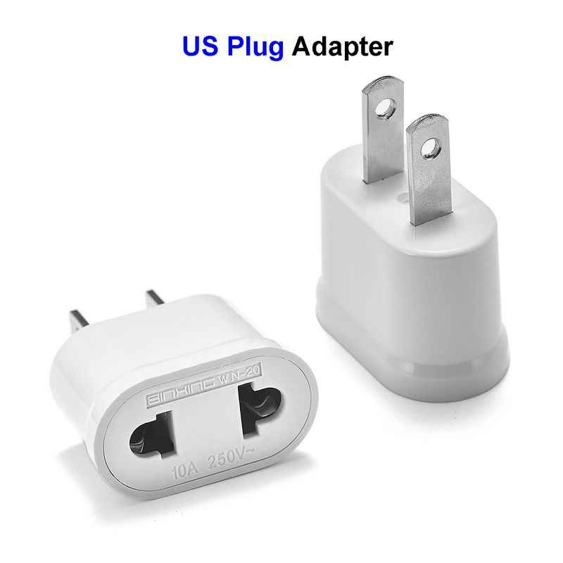 Usa Us Power Plug Adapter Europese Socket Eu Us Plug Adapter Elektrische Oplader Socket Japan China Americana Ac Converter
