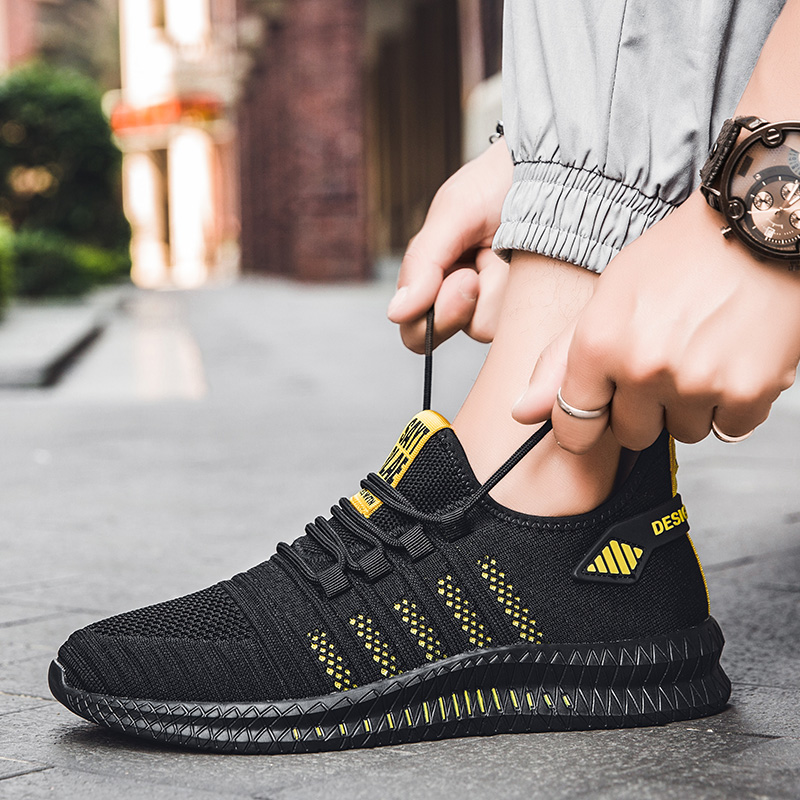 Image 2 - 2019 fashion casual shoes mesh men sneakers Lightweight Lac up Men Shoes Breathable Walking Sneakers KITLELER Zapatillas HombreMens Casual Shoes   -