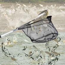 50cm Fishing Net Aluminum Alloy Telescoping Foldable Landing Net Pole for Carp Fishing Rubber Net Fishing Accessories Pesca Hot