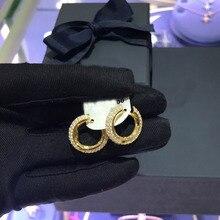 UMGODLY באיכות גבוהה נחושת Stud עגיל סלול שחור מעוקב Zironia פשוט עגילי נשים אופנה מסיבת תכשיטי מתנה