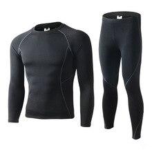 Men Long Johns Winter Fleece Keep Warm Thermal Underwear Set
