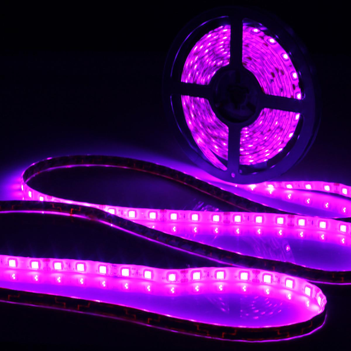 0.5/1/2/3/4/5M Waterproof IP65 UV Lamp Ultraviolet Purple Led Strip Light 12V DC 5050 SMD Black LED Lamp 395-405nm Strip Light