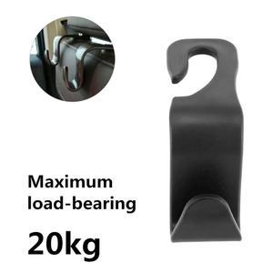 1/2/4pc Car Seat Back Hooks Universal Black Car Coat Bag Hanger Mount Storage Hook Seat Headrest Holder Car Coat Hanger Headrest