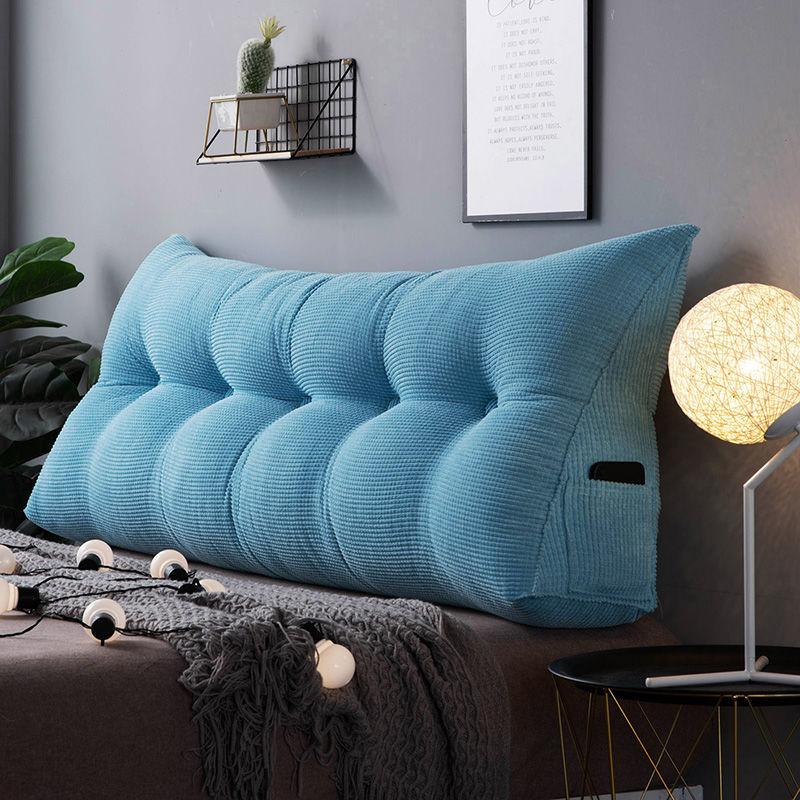 Cojín de velvetón de noche extraíble europeo almohada de respaldo de cama Triangular para cojín de sofá de cintura suave y grande para parejas