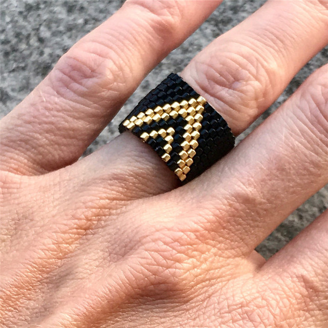 2020 Vintage turc mauvais oeil main MIYUKI anneaux bohême à la main perles colorées anneau pour femmes hommes amitié anneau bijoux cadeau