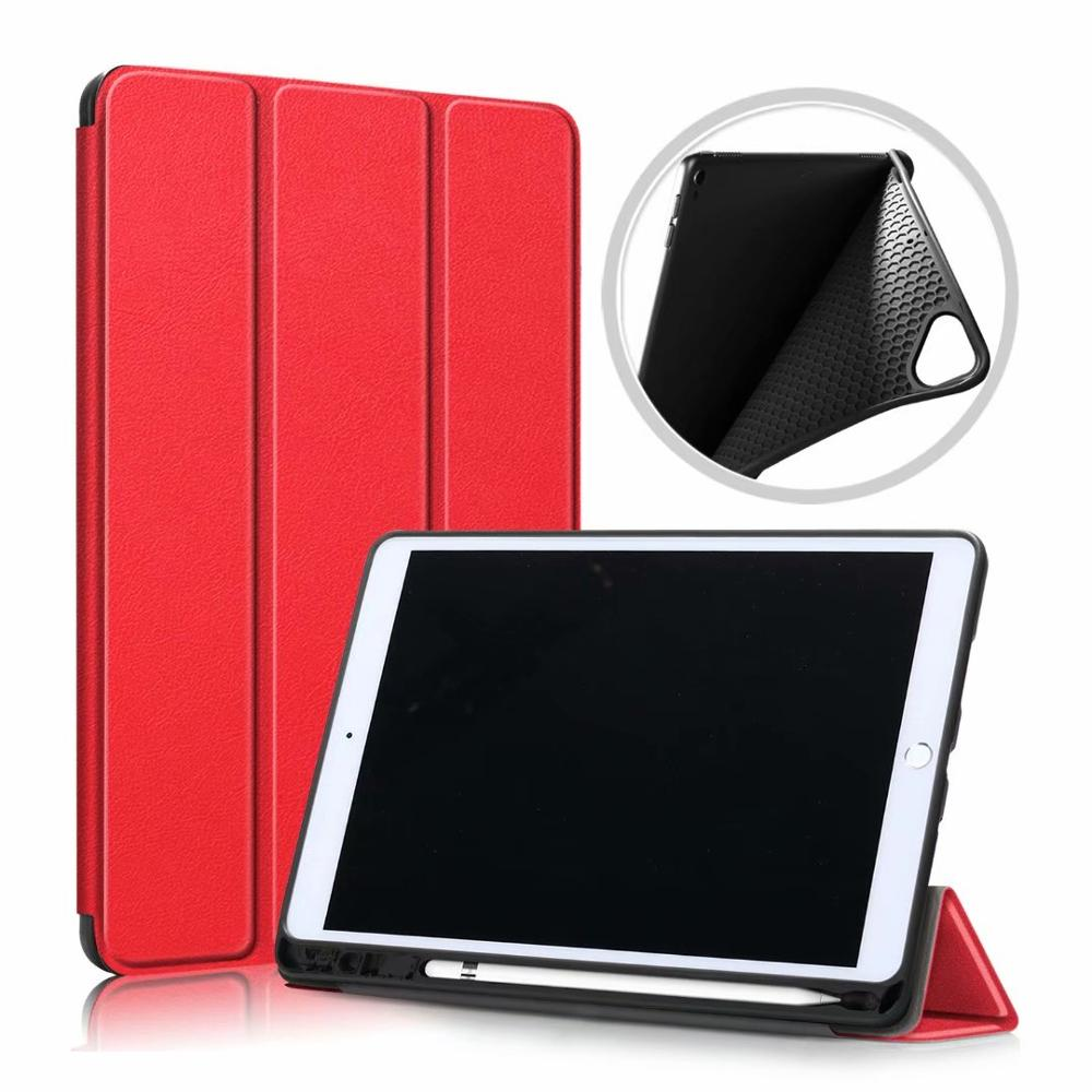Red Green Ultra Slim Coque For iPad 10 2 2019 Case A2200 A2198 A2232 Smart Magnetic Folding Stand