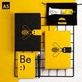 Kawaii блокнот и Bullet Journal A5 дневник  ежедневник  ежемесячный планировщик  органайзер  милая пчела  записная книжка  сетчатая линия  школьная дор...