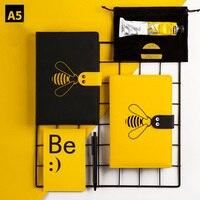 Kawaii Notebook Journal A5 Diary Notepad Agenda Monthly Planner Organizer Cute Bee Note Book Grid Line School Travel Handbook