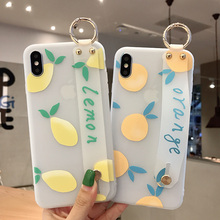 Fruit wristband personality matte white soft shell phone case for iphone 6 6s 7 8 11 POR Plus X XS XR MAX