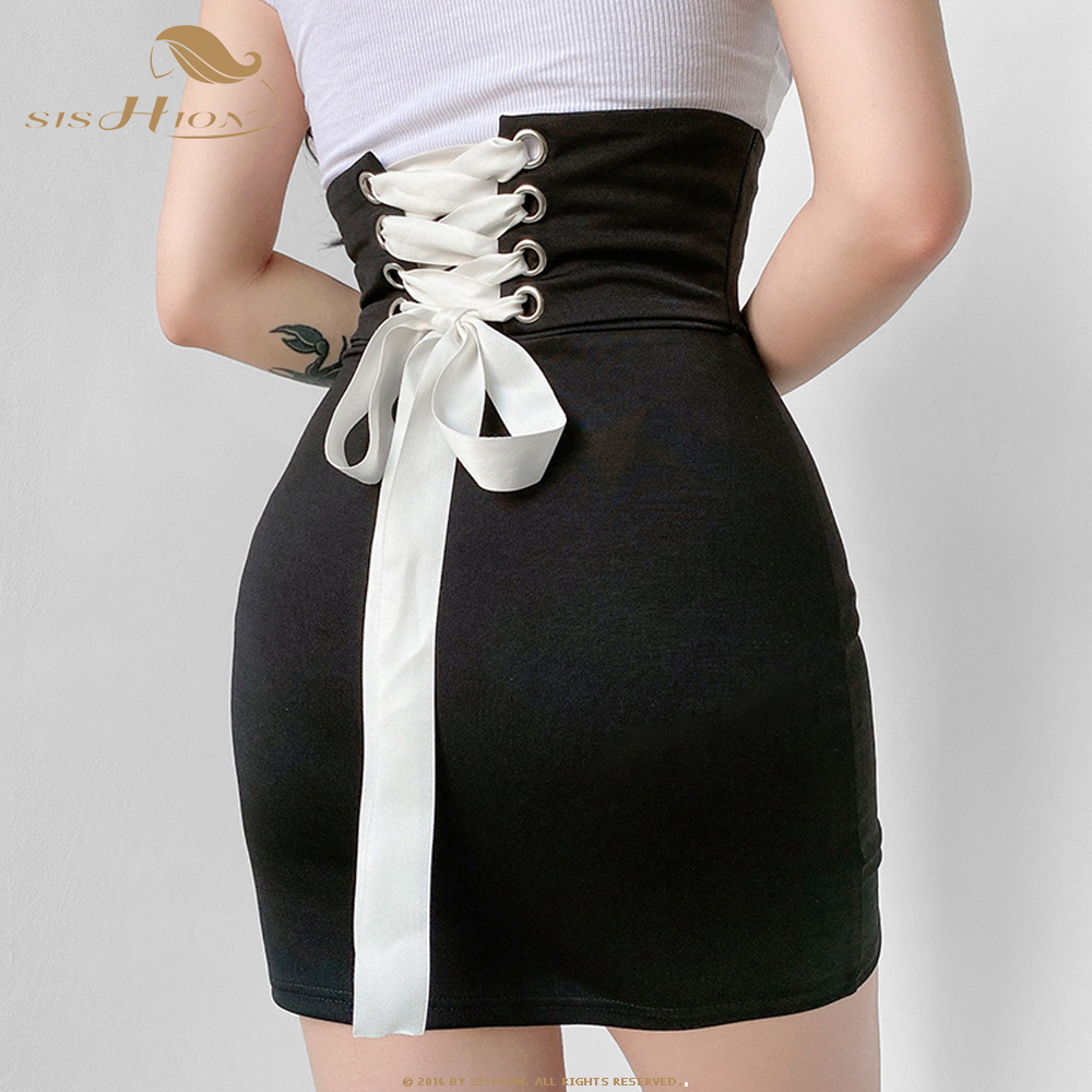 SISHION 2020 Summer Women Sexy Skirt VD1450 Ladies Mini Skirts Work Office Black High Waist Pencil Skirt