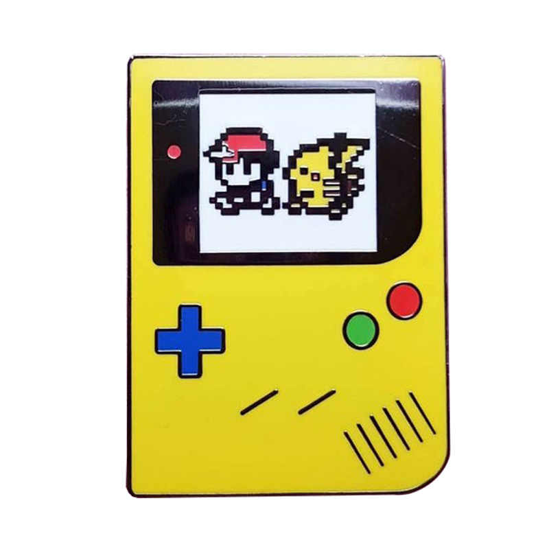 Kuning Keras Enamel Pin Pikachu Abu Pokemon Go Gamer Video Game Naluri Valor Mystic Pin
