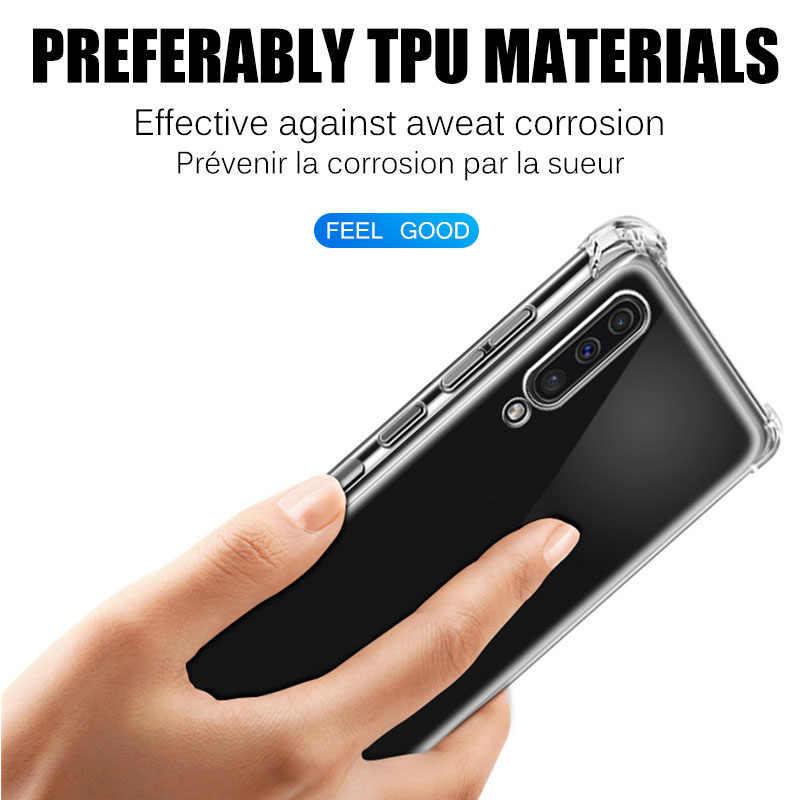 حافظة من السيليكون الشفافة المقاومة للصدمات لهواتف OPPO Realme C2 5 PRO X2/RENO 2F 2Z 2 Z/A9 A5 2020/F11 PRO غطاء شفاف
