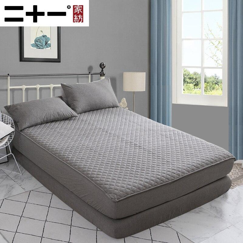 Accueil coton complet lavage coton-gainé lit chapeau épaississement matelas protéger gaine paquet complet 1.8 M dans le lit peut laver la Machine