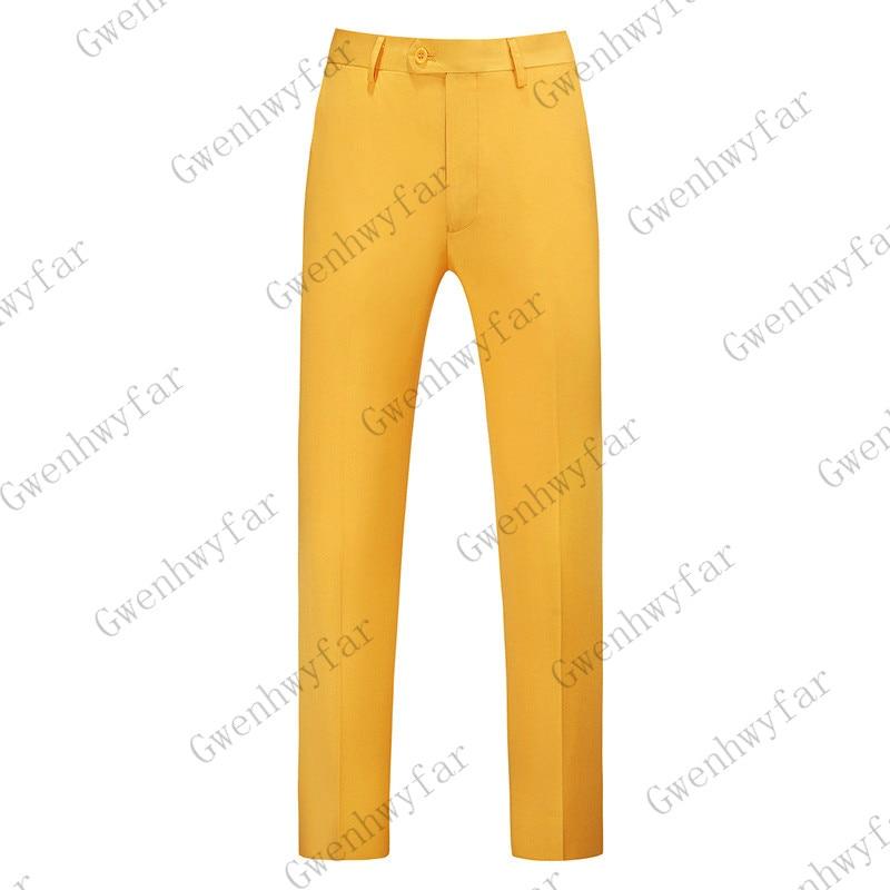 Gwenhwayfar, мужские синие клетчатые брюки, деловой костюм, брюки, деловые повседневные облегающие брюки, Классический Клетчатый костюм, брюки для свадьбы - Цвет: orange