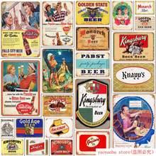 Beber Ron vino cerveza Bar reglas Metal lata signos Vintage cartel Pub hogar Bar decoración pared arte placa publicitaria pintura pegatina