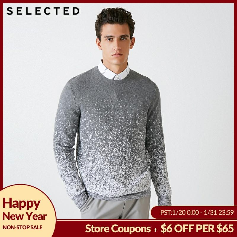 SELECTED Blackrock's New Men Round Collar Pullover Clothes Gradient Leisure Long-sleeved Knit Sweater S | 418324526