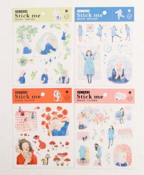 Декоративная наклейка Happy blue (1 шт.)