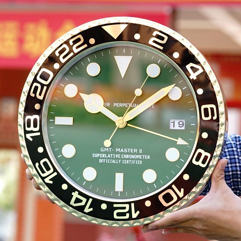 Luxury Brand Design Metal Art Watch Clock Luminous Function Top Quality Metal Home Decor Wall Clocks With Corresponding LOGO