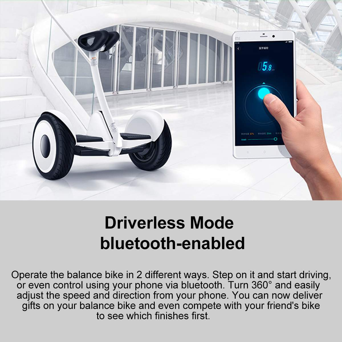 Оригинальный Xiaomi mini Ninebot умный самобалансирующийся электрический скутер двухколесный Скейтборд 10 дюймов - 3