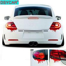 DSYCAR 1Set Rosso Sangue Adesivi Per Auto Horror Decalcomanie Auto Paraurti Corpo Sticker Decal Adesivo Sticker Car Styling Accessori
