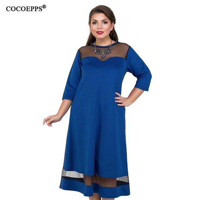 A Line 5xl 6xl Plus Size Winter Dress Mesh Elegant Women Dress Large Size Long Maxi Dress Evening Party Big Size vestidos 2019 4