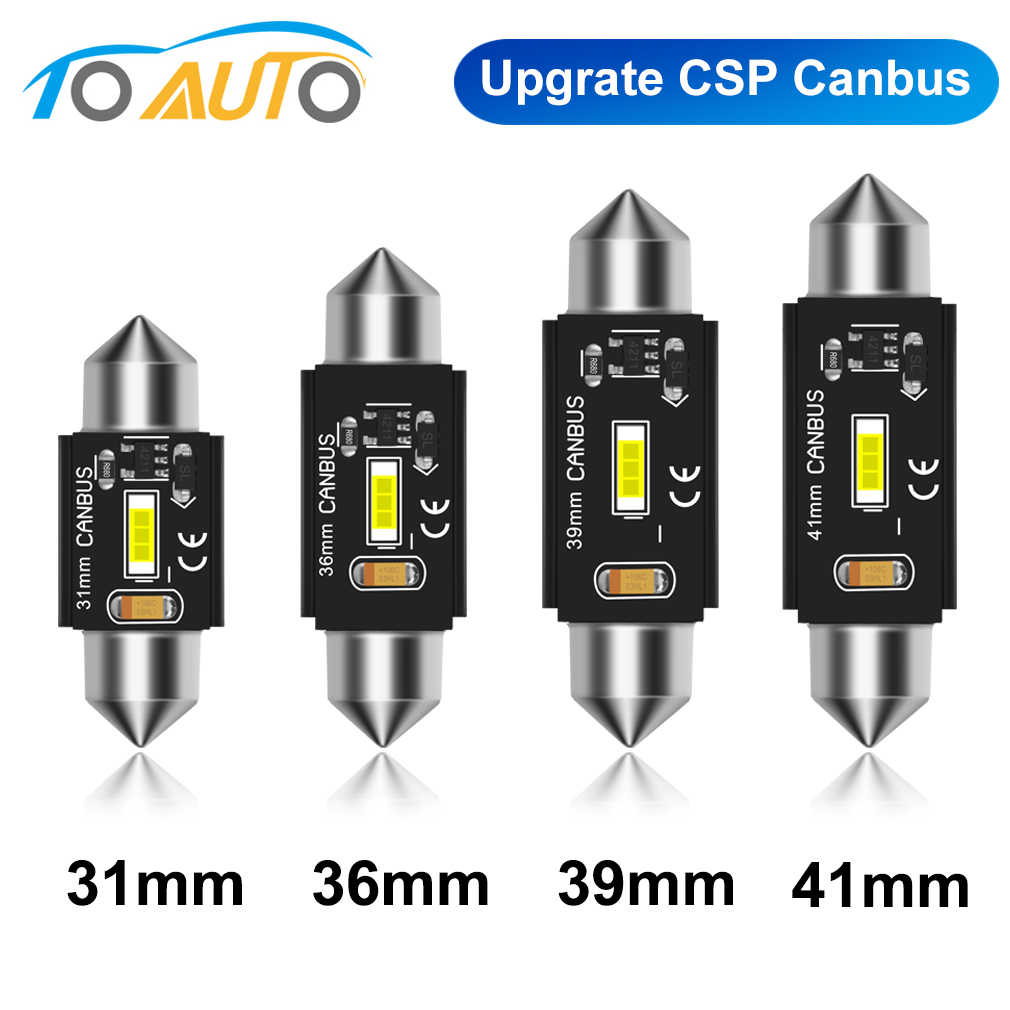 CANbus C5W LED C10W Bulb 31 Mm 36 Mm 39 Mm 41 Mm Festoon LED Mobil Interior Lampu Dome Membaca license Plate Lampu Mobil 6000K 12V