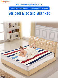 Blanket Bed-Warmer-Pad Manta Electrica 2-Body Small 220-V Printed Double-Control 150--180cm