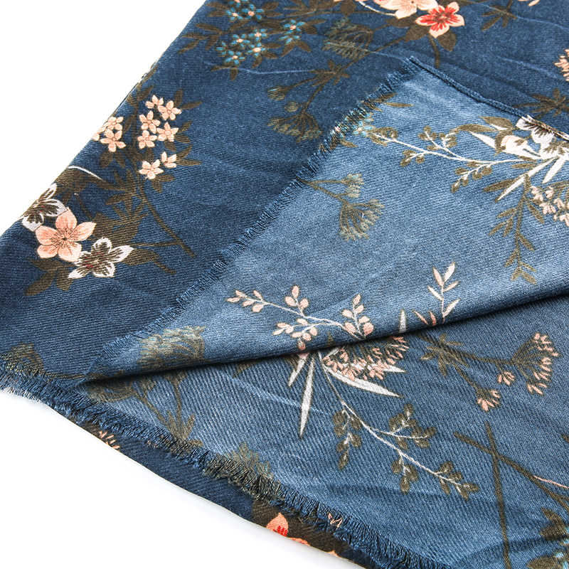 2018 moda chiffon cachecol feminino luxo foulard marca lenço de seda feminino cachecóis florais xale alta qualidade impressão hijab envoltório