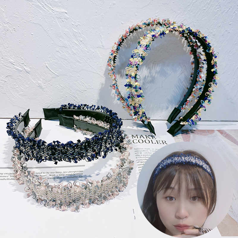 Rough Selvedge Knitted Hairband Toothed Headband For Women Girls Candy Color Hair Head Hoop Bands Accessories Headdress Headwear