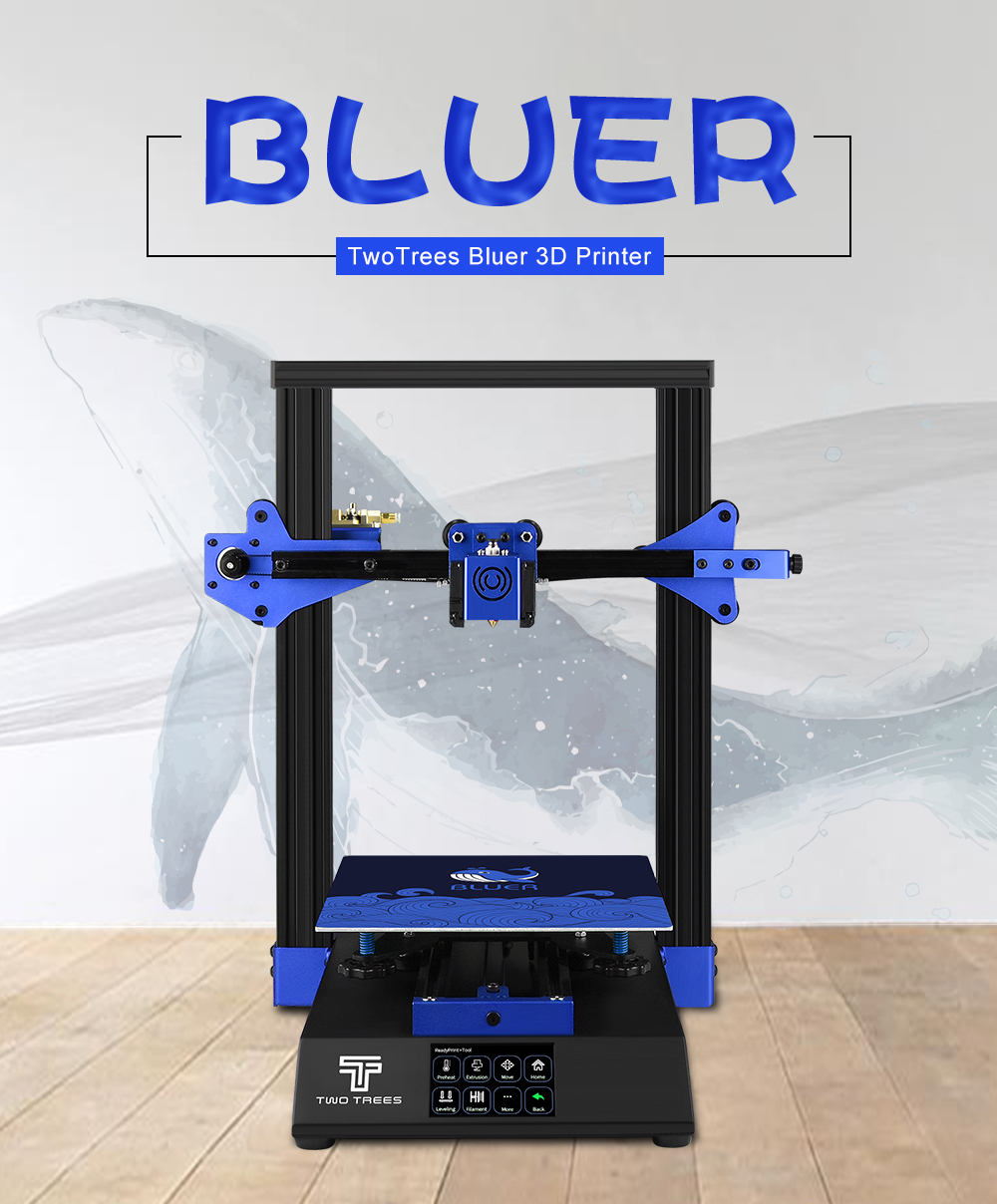 BLUER TWO TREES 3D Printer for High Precision Printing with Auto Leveling and Resume Power Failure 5