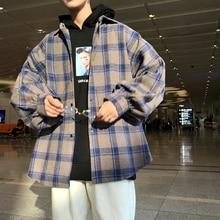 Winter New Thick Woolen Shirt Men Fashion Retro Casual Jacket Man Streetwear Wild Loose Long-sleeved Coat M-5XL