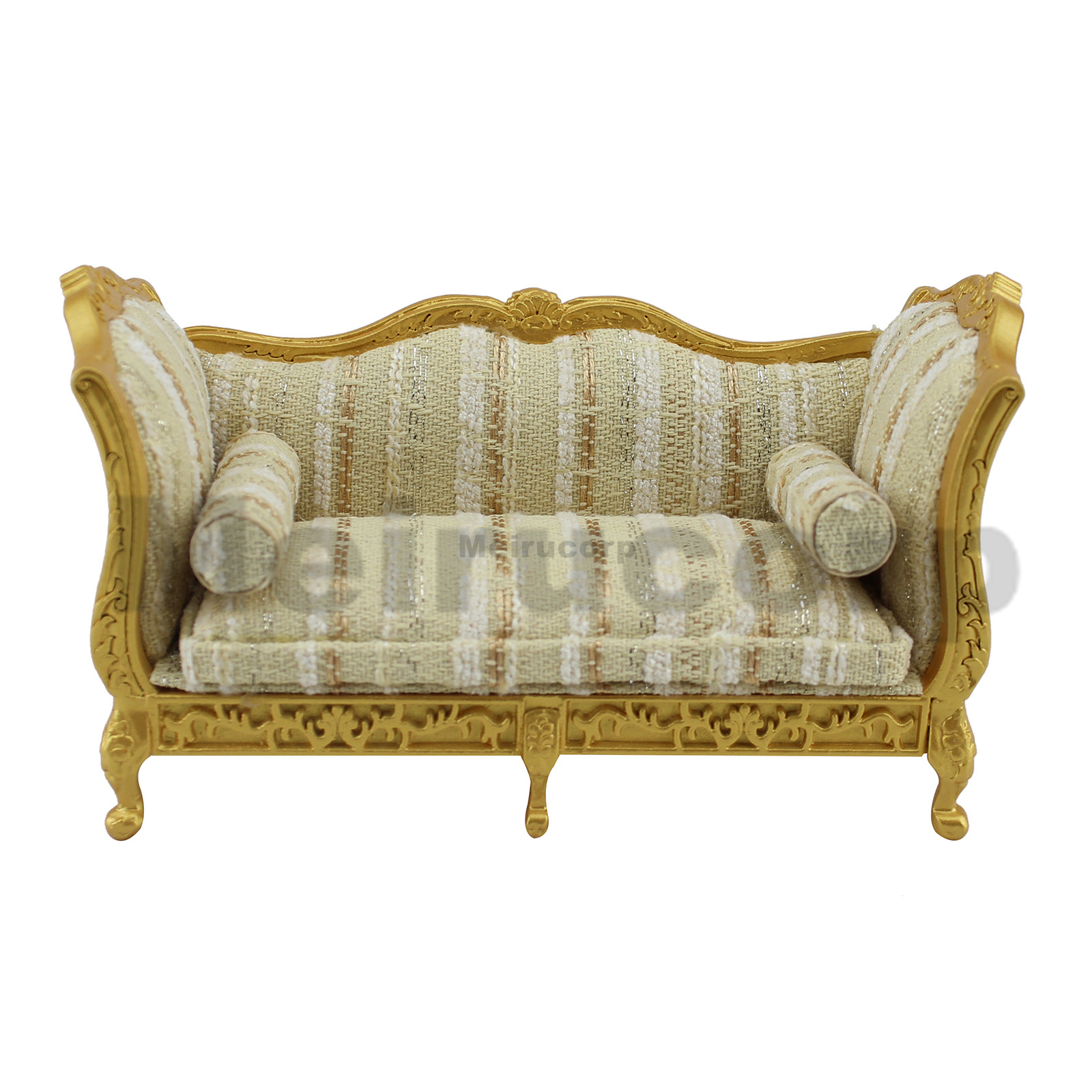 Fine 1:12 Scale Dollhouse Miniature Furniture Wooden Hand Carved Double Bed