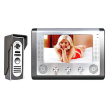 7'' TFT LCD Wired Video Door Phone Visual Video Intercom Doorbell Speakerphone Intercom System With Waterproof Outdoor IR Camera цена в Москве и Питере