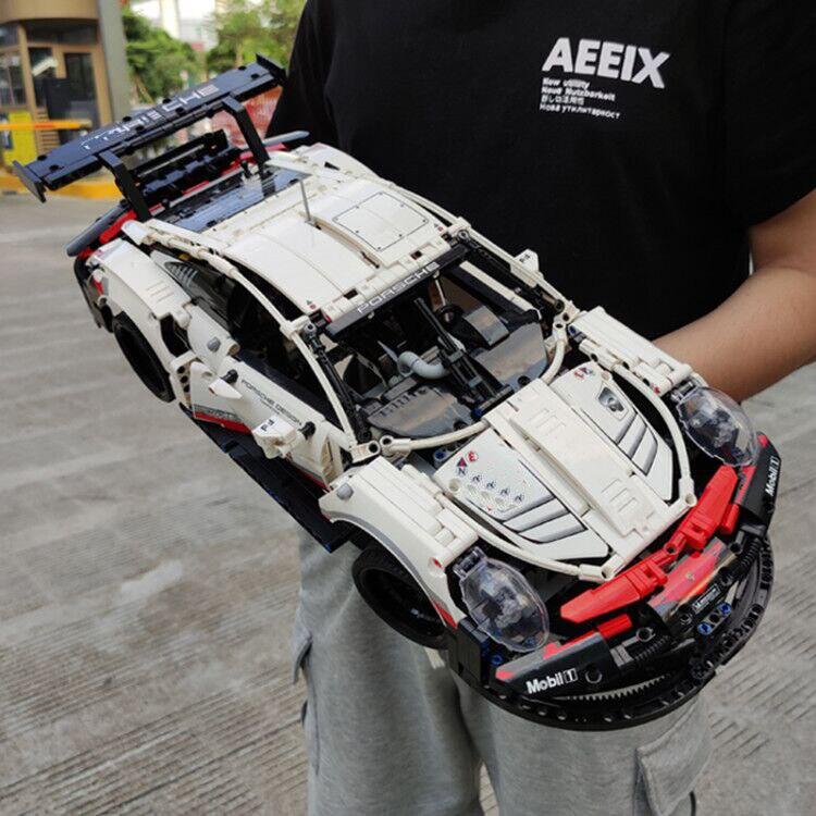 In Stock 20097 RSR Lepining Technic Series Super Car RSR King 90066 Building Blocks Bricks  42096 13387 Toys