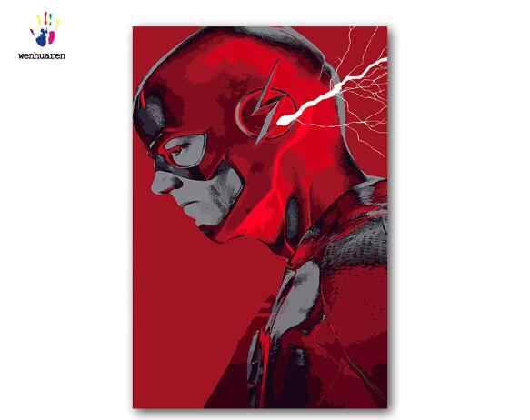 paint by number art painting by numbers anime Marvel character