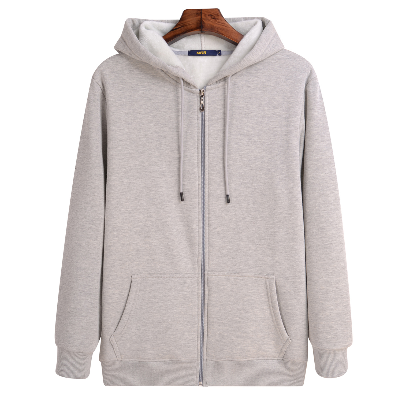 2020 Autumn Winter Mens Sweatshirts Solid Slim Long Sleeve Warm Hoodies Men Stand Collar Zipper Coats Men Hoodies 5