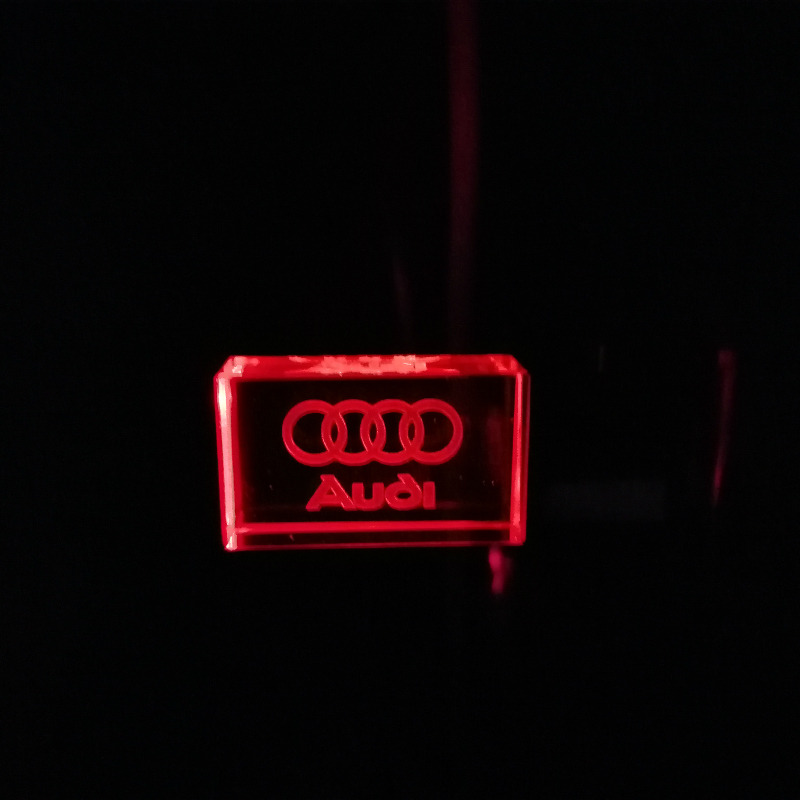 Audi Car Logo  Flash Crystal USB Pendrive USB 2.0 Flash Pen Drive Custom Logo Fashion Clef Usb Wedding Gift 4gb 8gb 16GB 32GB