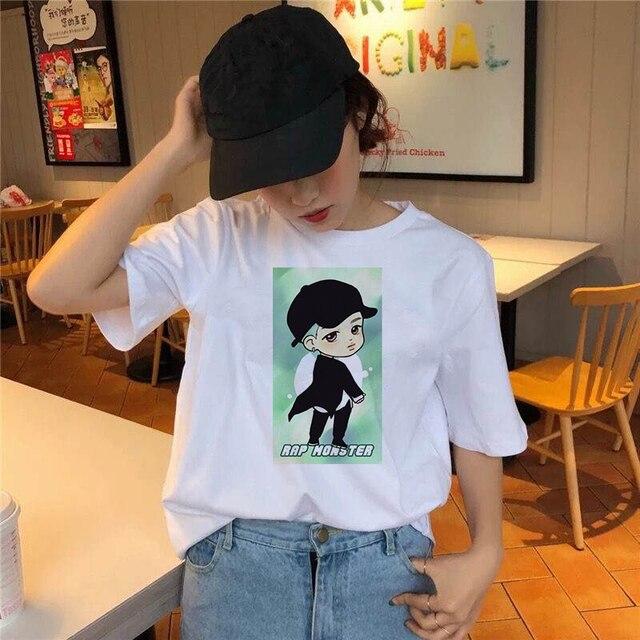 Фото модная комиксная футболка для мальчиков женская с милым принтом