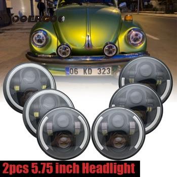 "2 X 5.75 inch Iron 883 Dyna Headlamp 5 3/4"" LED Headlights DRL for Triumph Rocket iii 3 Speed Tripl & Street Triple 5.75"" Lamp"