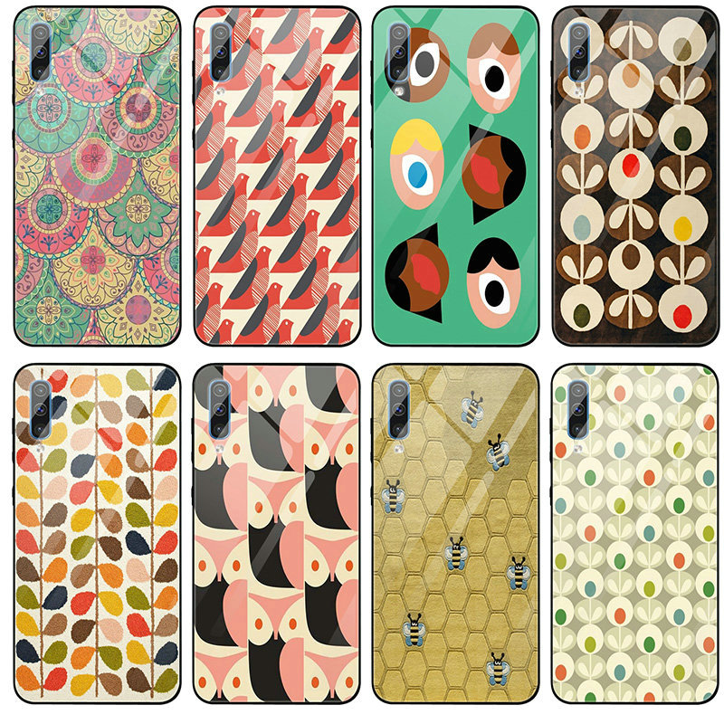 Unique Orla Kiely <font><b>Tempered</b></font> <font><b>Glass</b></font> Phone <font><b>Cases</b></font> for <font><b>Samsung</b></font> Galaxy A6 A8 A9 A10 A20 A30 A40 A50 <font><b>A70</b></font> A80 A90 S8 S9 S10 Plus Bags image