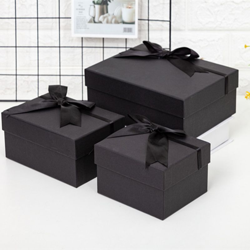 Bow Tie Elegant Black Gift Box Eco-friendly High-quality Cardboard For Weddings