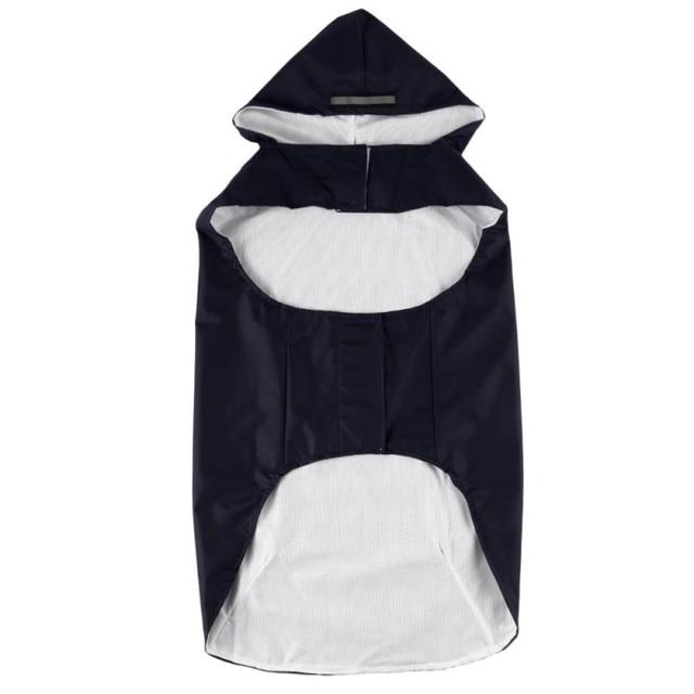 Pet's Hoodies Raincoat with Reflective Stripes Pet Outdoor Rain Jacket Poncho For Medium / Large Dog 4