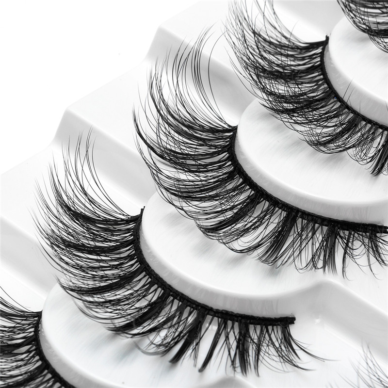 Image 5 - 2/4/8/10 Pairs Lashes 3D Mink Eyelashes Natural Long /Thick False Eyelashes Handmade lashes Makeup Extension Eyelashes-in False Eyelashes from Beauty & Health