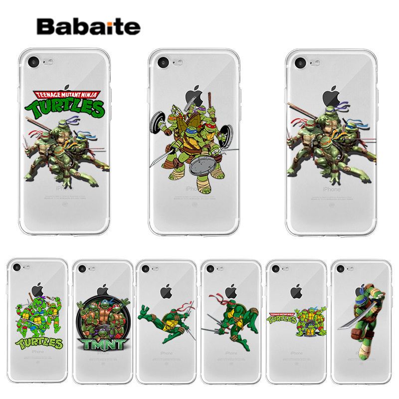 Babaite Ninja Turtles Smart Cover Transparent Weiche Shell Telefon Fall für <font><b>iPhone</b></font> 7 <font><b>7plus</b></font> X XS MAX 6 6S 8 8Plus 5 5S XR abdeckung image