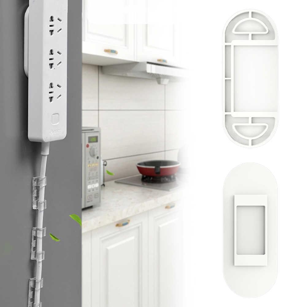 Bez szwu wielokrotnego użytku listwa zasilająca gniazdo uchwytu stabilizator pilot zdalnego sterowania samoprzylepne pulpitu dla router wi-fi do montażu na ścianie domu